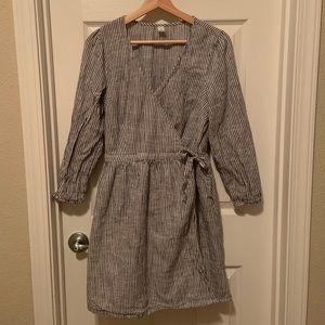 Old Navy Long Sleeve Wrap-Dress